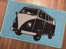 NO SLIP DOORMAT 50X80CM GEL BACKING TOP QUALITY CAMPER DESIGN NEW COLOURS BLUE